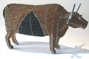 Beaded Wire Bull, South Africa