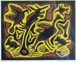 Eagle, Koribustard and Swallow, S. Thame, San Bushman