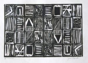 Woodblock Print 01, Janet Paparelli